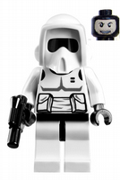 Lego Star Wars: Imperial Endor Biker Scout Trooper with Blaster - Minifigure
